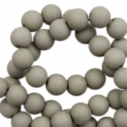 8 mm acrylic beads matt Rock Ridge Grey