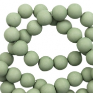 10 mm acrylic beads matt Cameo Green