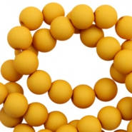 8 mm acrylic beads matt Scotch Yellow