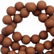 6 mm acrylic beads matt Spectrum Brown