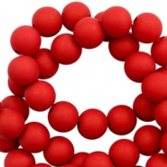 8 mm acrylic beads matt Ruby Red