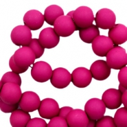 6 mm acrylic beads matt Fuchsia Purple