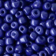 Glass seed beads 6/0 (4mm) Spectrum Blue