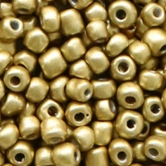 Glass seed beads 6/0 (4mm) Medallion Gold Metallic