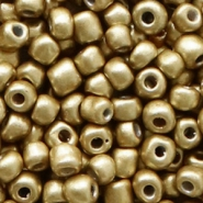 Glass seed beads 6/0 (4mm) Restrained Gold