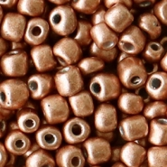 Glass seed beads 6/0 (4mm) Copper Brown Metallic