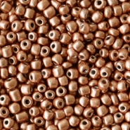 Glass seed beads 12/0 (2mm) Copper Brown Metallic