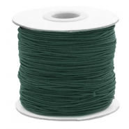 Coloured elastic cord 1mm Dark Green