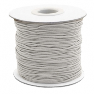 Coloured elastic cord 1mm Light Grey