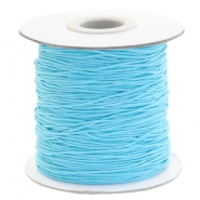 Coloured elastic cord 1mm Sky Blue