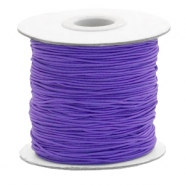 Coloured elastic cord 1mm Imperial Purple