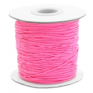 Coloured elastic cord 1mm Hot Pink