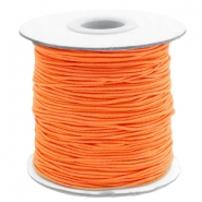 Coloured elastic cord 1mm Vibrant Orange