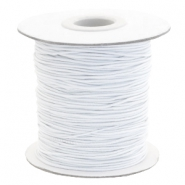 Coloured elastic cord 1mm White