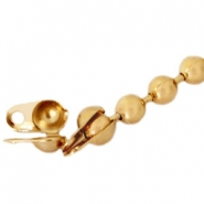 Basic Quality metal end cap for 1.5mm ball chain Gold