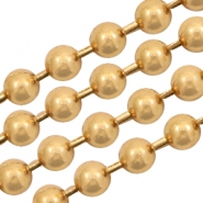 Basic Quality metal ball chain 1.2mm Gold