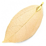 Charm with 1 loop metal leaf Gold