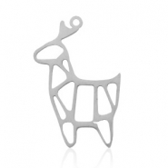 Stainless steel charms reindeer Silver