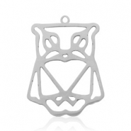 Stainless steel charms owl Silver