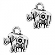 Metal charms elephant Antique Silver