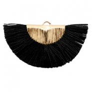 Tassels charm Gold-Black