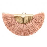 Tassels charm Gold-Terracotta Rose