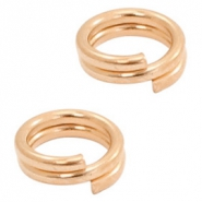 DQ European metal findings split ring 7mm Rose Gold (nickel free)