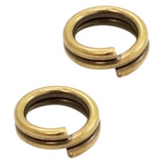 DQ European metal findings split ring 5mm Antique Bronze (nickel free)