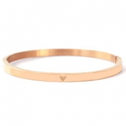 Stainless steel bracelets with heart Rose Gold