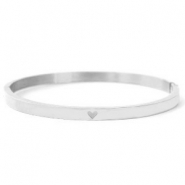 Stainless steel bracelets with heart Silver