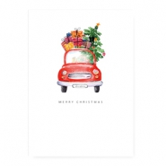 "Jewellery cards ""Merry Christmas"" White"