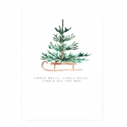 "Jewellery cards ""jingle bells"" White"