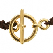 DQ metal toggle clasp Gold (nickel free)