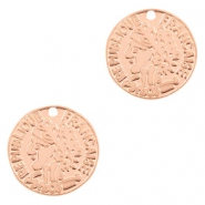 Bohemian charms coin 10mm Rose Gold
