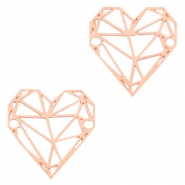 Bohemian connectors geometric heart Rose Gold