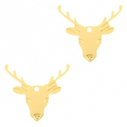 Bohemian charms reindeer Gold