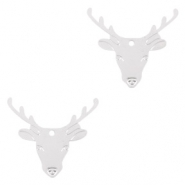 Bohemian charms reindeer Silver