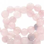 6 mm natural stone beads round Light vintage pink