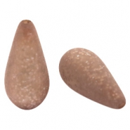 Polaris Elements drop shaped beads Paipolas matt Taupe Brown