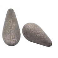Polaris Elements drop shaped beads Paipolas matt Warm Grey