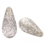 Polaris Elements drop shaped beads Paipolas shiny Light Silver Shade