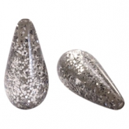 Polaris Elements drop shaped beads Paipolas shiny Warm Grey