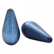 Super Polaris Elements drop shaped beads shiny Night Blue