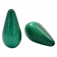 Super Polaris Elements drop shaped beads shiny Dark Classic Green