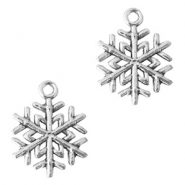 Metal charms snowflake Antique Silver