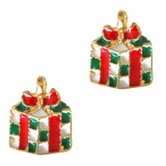 Metal charms present Gold-Red Green