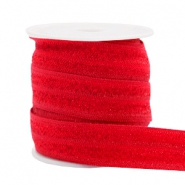 Elastic ribbon glitter Red
