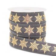 Elastic ribbon snowflake Grey