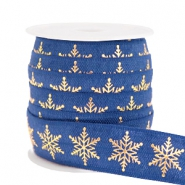 Elastic ribbon snowflake Dark Blue