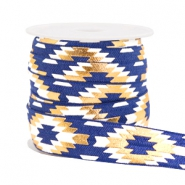 Elastic ribbon aztec Dark Blue